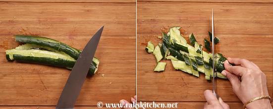 Receita de salada de pepino esmagado - Cozinha Raks 5