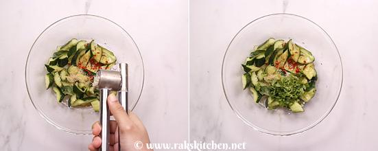 Receita de salada de pepino esmagado - Cozinha Raks 9