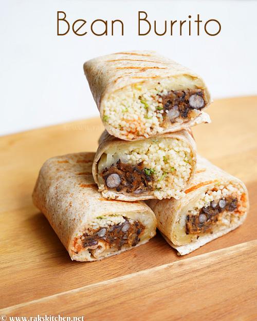 Burrito de feijão, burritos de queijo com cuscuz de feijão 3