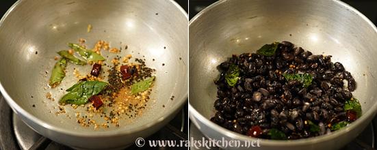 Sundal de feijão preto, receitas rápidas de sundal 5