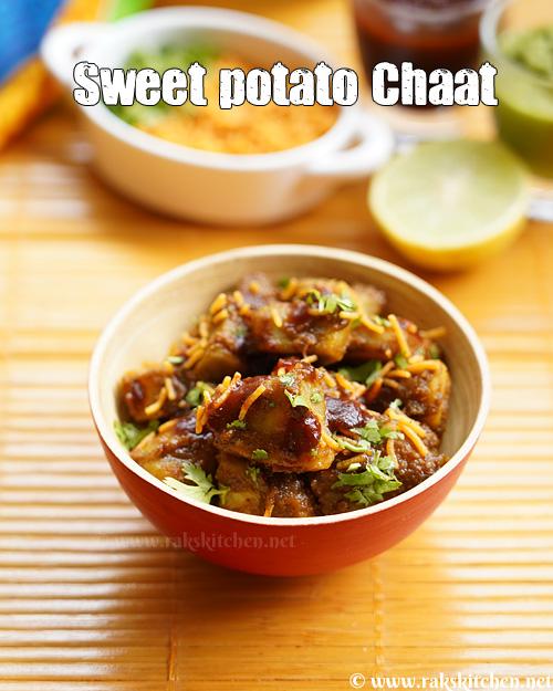 batata-doce chaat