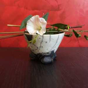 bol-blanc-craquele-raku-ikebana