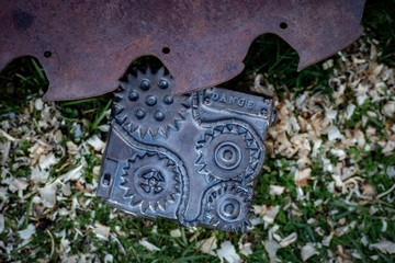 Steampunk ceramic pottery box