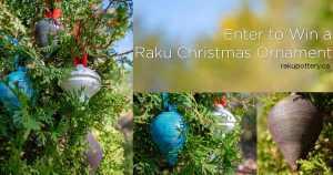 Raku Christmas Ornaments