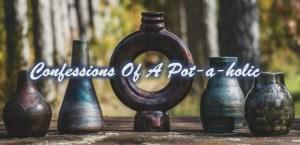 Raku pottery, vases made in Canada