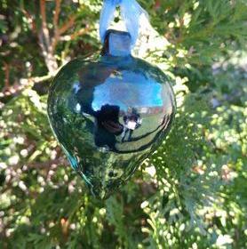 Raku Christmas Ornament