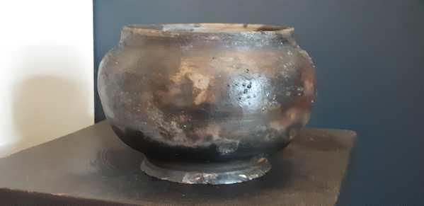 Pit Fired Pottery Vase