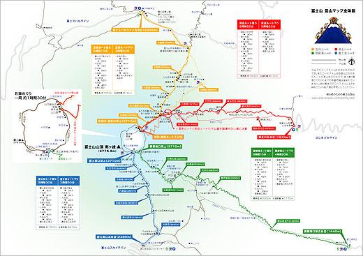 富士山_登山路線_地圖