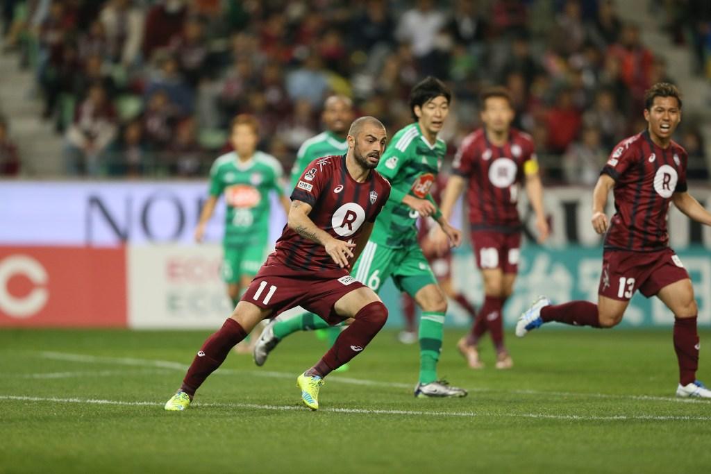 Vissel Kobe's Leandro, the joint league leading scorer, spearheads the team's creative style