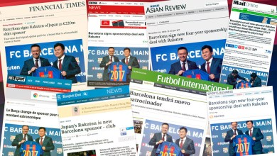 Media attention surrounding Rakuten's sponsorship of FC Barcelona