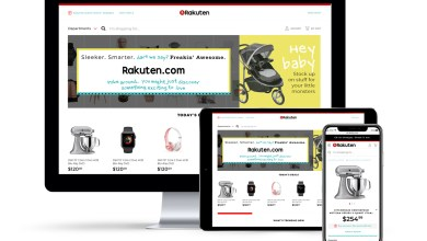 Rakuten.com has rolled out a daring new design for its US marketplace that at once manages to be both cutting edge and nostalgic.