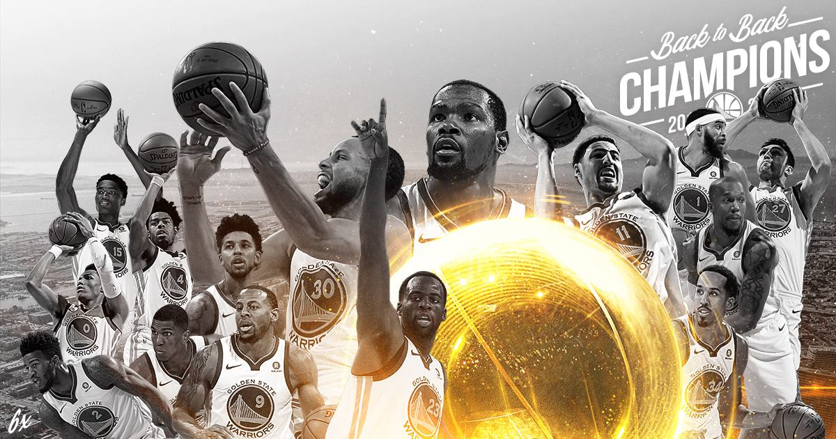 The Golden State Warriors are now back to back NBA champs!