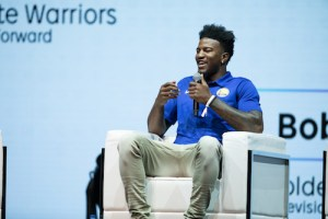 """""""We're just as close with the people who sell tickets as we are with the coaches. We hang out with the people in the front office and have lunch with them. We're all a big family,"""" explained Warriors Forward Jordan Bell."""