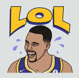 The exclusive Viber sticker of Stephen Curry LOL-ing quickly became a fan favorite of users.