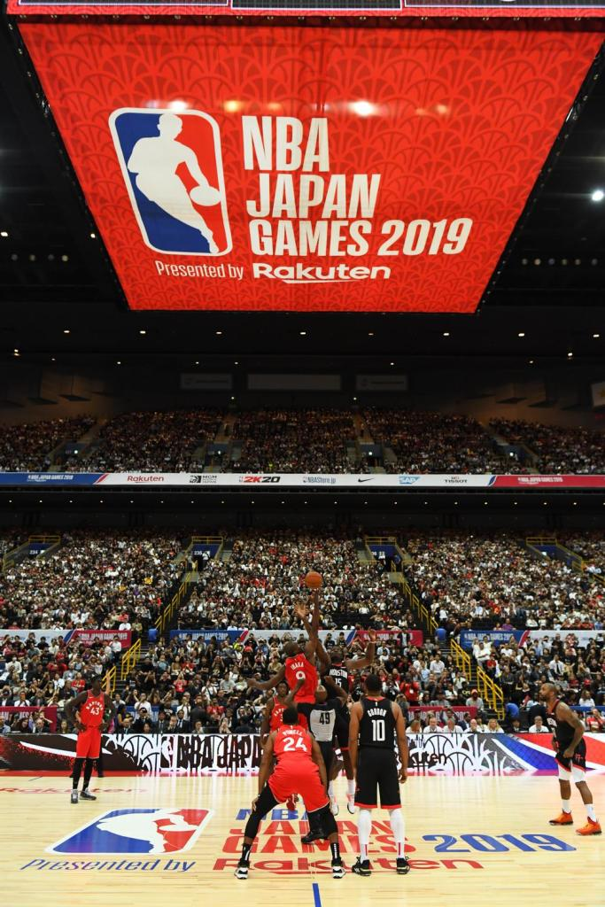Game one tips off in the first NBA action in Japan since 2003.