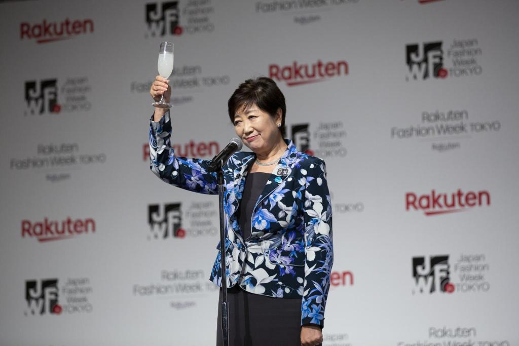 Tokyo governor Yuriko Koike gave a toast to members of the fashion industry.