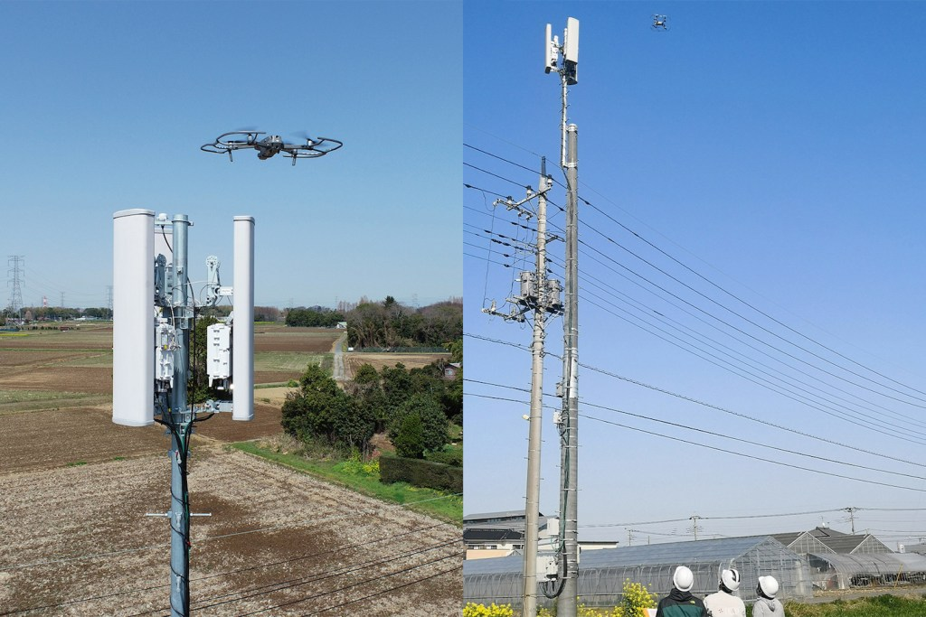 Drones can easily reach towers that would normally require wingless humans much time, labor and peril.