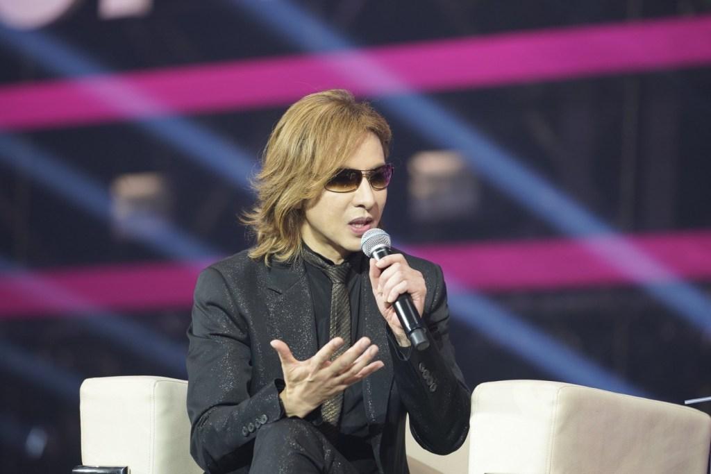 Popular Japanese artist and fashion designer YOSHIKI spoke and performed at Rakuten Optimism 2019.