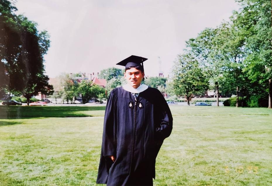 At my graduation from Harvard Business School.