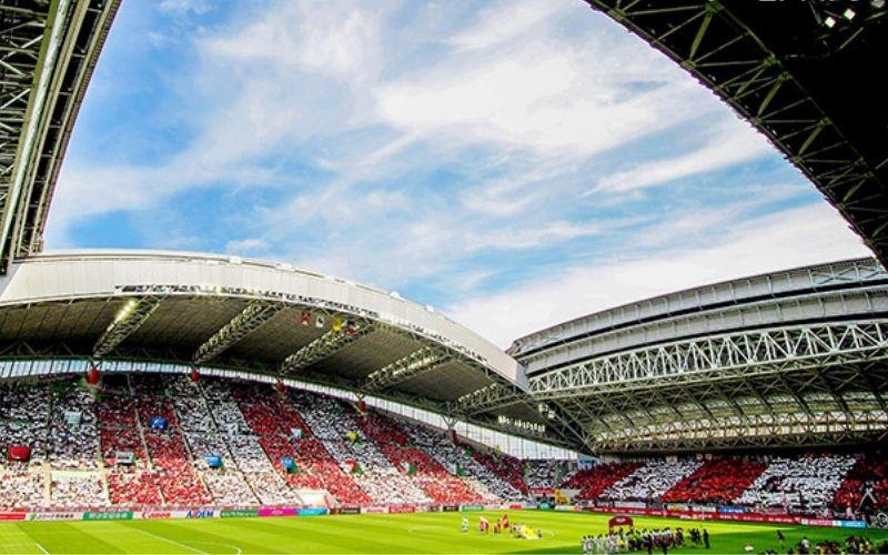 Noevir Stadium, the home ground of Rakuten's J.League soccer team Vissel Kobe.