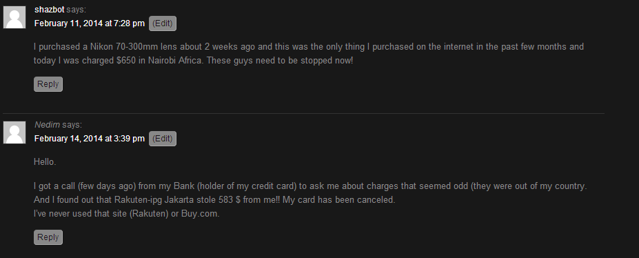Comments February 2014