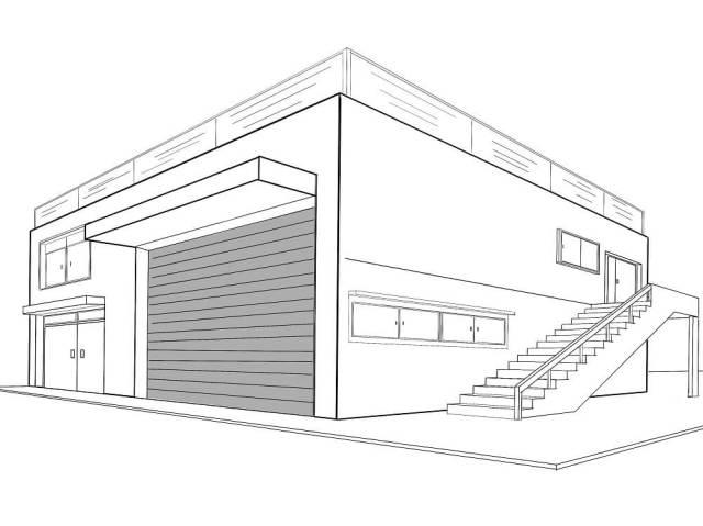 【Procreate 4】階段を描く時の消失点の位置。(3点透視図法)