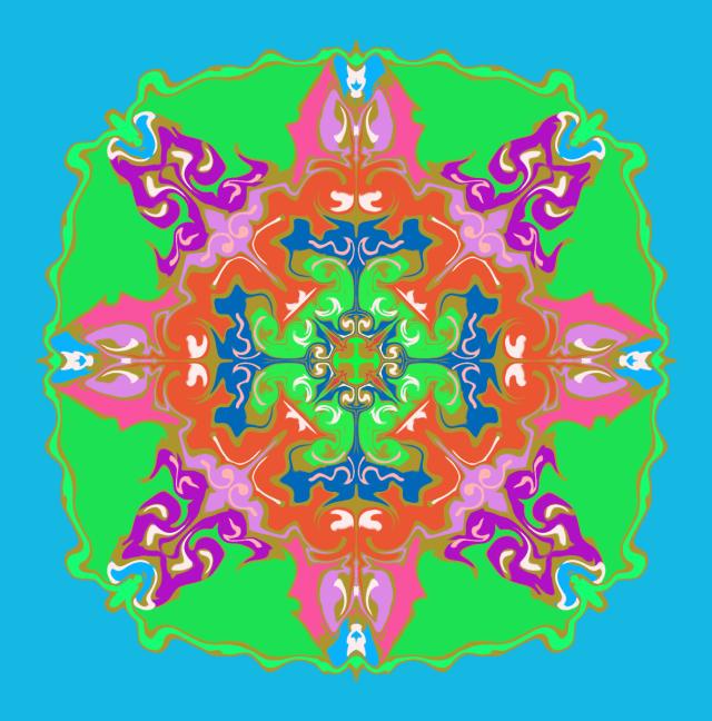 【Procreate4.1】描画ガイドに「ゆがみ」を使った幾何学模様がとっても美しい