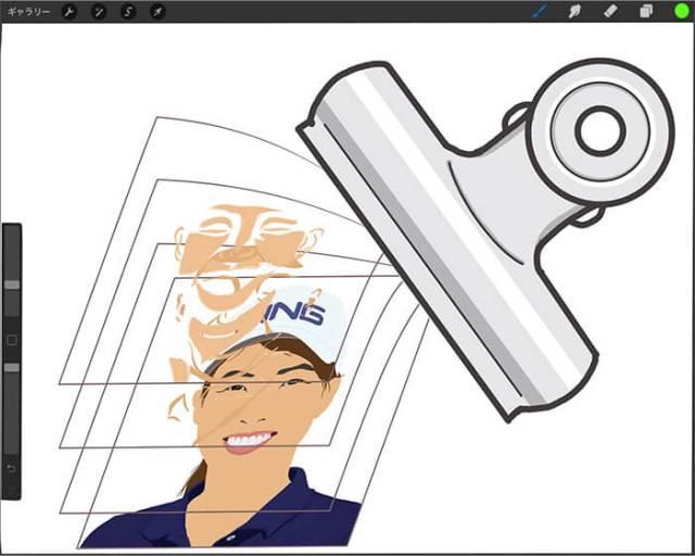 """【Procreate】はみ出さずに塗れる""""マスクをクリップ"""" !! 元画像の状態も保てます。"""