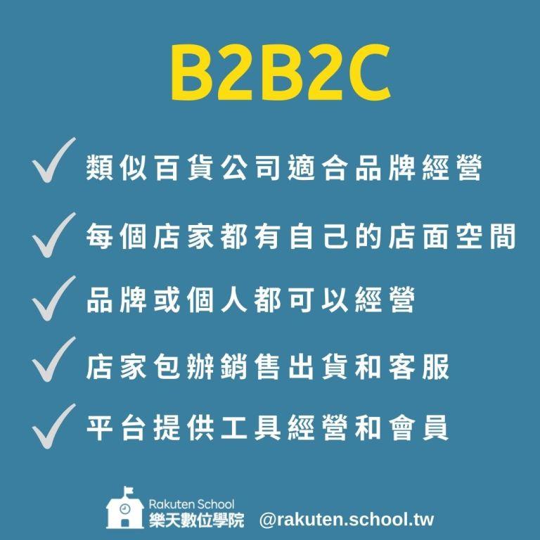 電商平台三大模式B2B2C