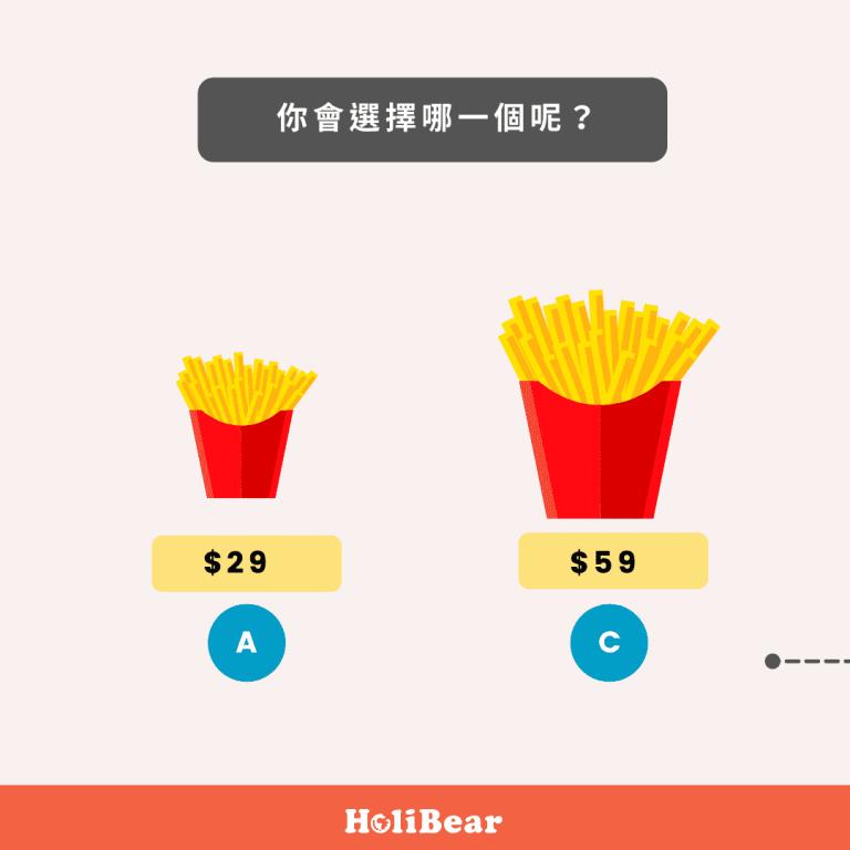 誘餌行銷例子:薯條案例
