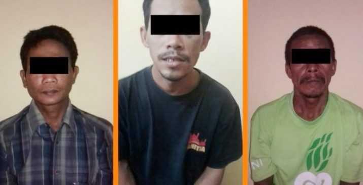 Tiga Orang Pelaku Pencurian di Cangaan Kanor