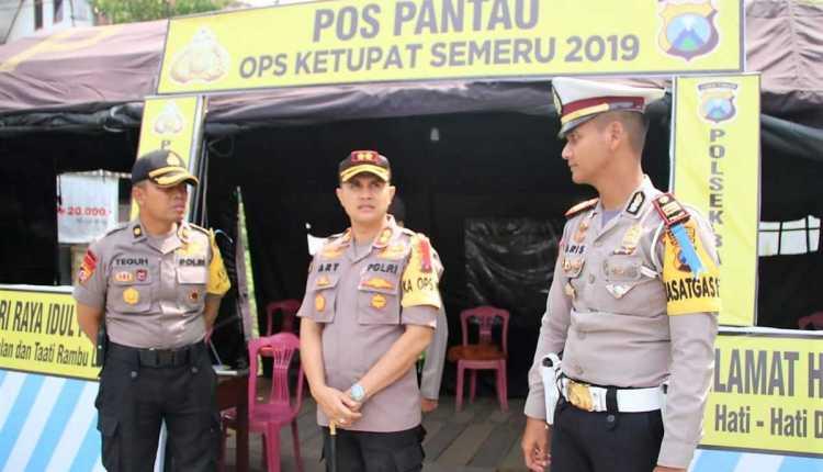 Kapolres Bojonegoro Cek Pos Ops Ketupat Semeru 2019,