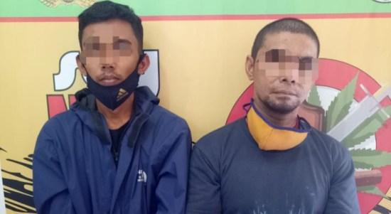 Dua DPO BNN Jaringan Narkotika Internasional yang ditangkap Polres Taput. Foto: istimewa