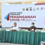 Gubernur Sumatera Utara, Edy Rahmayadi saat rapat kordinasi dengan penyelenggara pemilu. Foto: istimewa