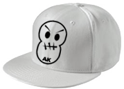 White Stiched Smiley New Era Snapback