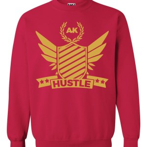 rakz cherry red hustle crew neck