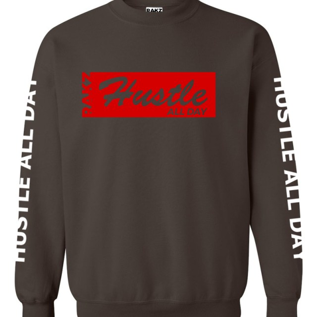 Rakz dark chocolate hustle all day crew neck