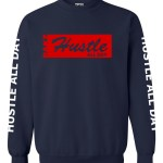 Rakz navy blue hustle all day crew neck