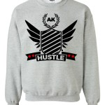 rakz grey hustle crew neck
