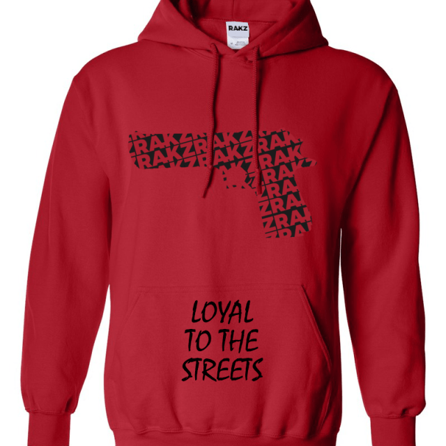 Hoodie - Loyal to the Streets - Red