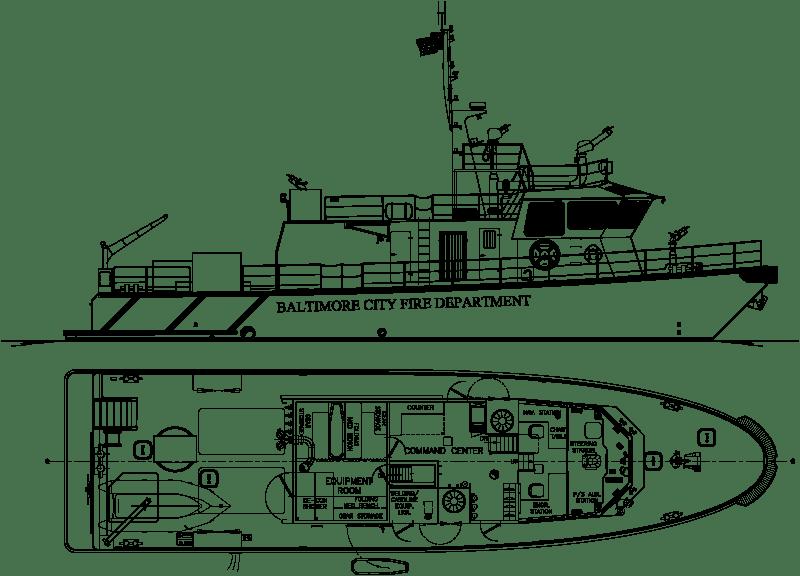 RAnger 2650 Class fireboat from Robert Allan Ltd. for City