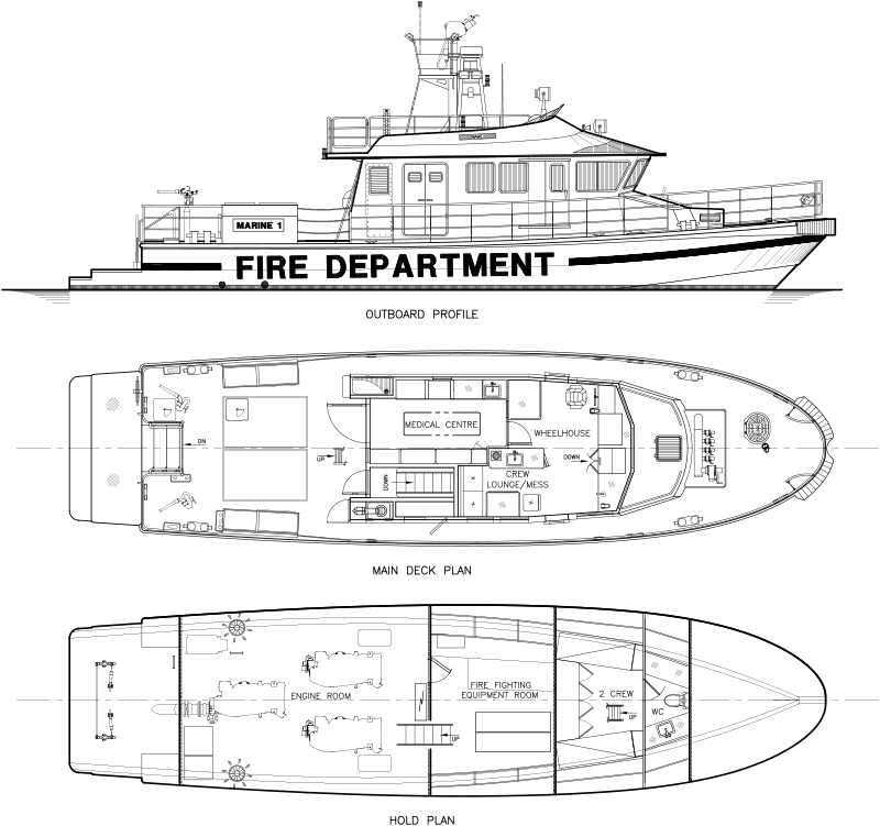 RAnger 2000 Class fireboat from Robert Allan Ltd. for