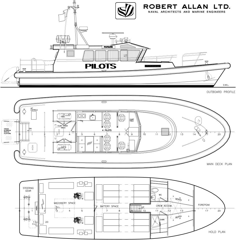 All New Electric Pilot Boat Design by Robert Allan Ltd