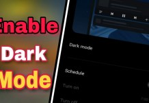 enable android dark mode