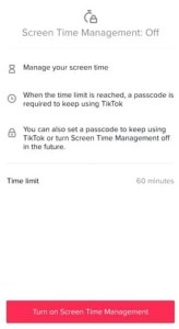 set your time limit on tik tok