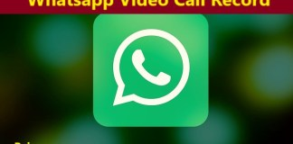 whatsapp video call record