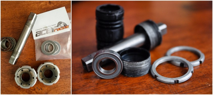 SBDU TI Raleigh Ilkeston SB5464 Time Trial Special OMAS Titanium Bottom Bracket Ceramic Bearings