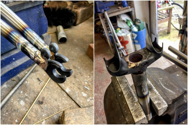 Dave Yates Frame Building Course Day 3 Brazing Dropouts and Crown