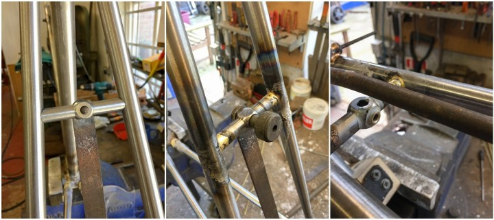 Dave Yates Frame Building Course Day 4 Brake Bridge Fitted