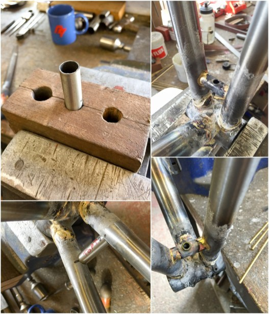 Dave Yates Frame Building Course Day 4 Making a Chainstay Bridge